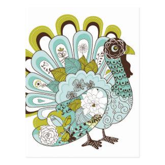 幸せな感謝祭の美しいトルコカード2 ポストカード