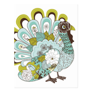 幸せな感謝祭の美しいトルコカード2 葉書き