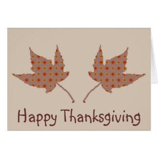 幸せな感謝祭の葉カード カード