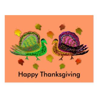 幸せな感謝祭の郵便はがき ポストカード