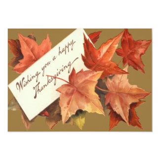 幸せな感謝祭を望む紅葉 12.7 X 17.8 インビテーションカード