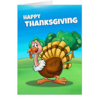幸せな感謝祭カード漫画 カード