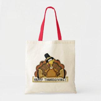 幸せな感謝祭トルコ トートバッグ