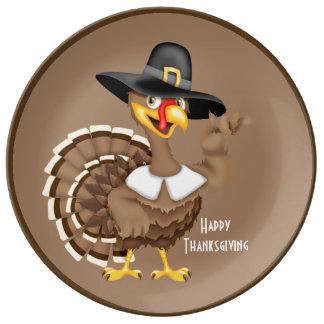 幸せな感謝祭トルコ 磁器プレート
