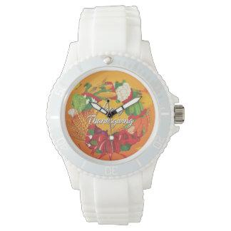 幸せな感謝祭6の腕時計及び数字の選択 腕時計