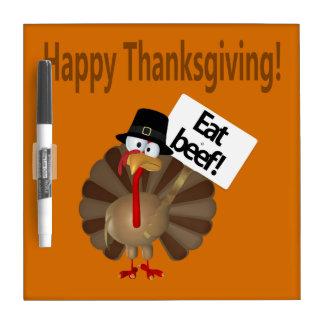 幸せな感謝祭、おもしろいなトルコ ホワイトボード