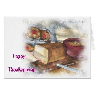 幸せな感謝祭 カード