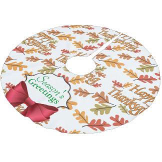 幸せな感謝祭 ブラッシュドポリエステルツリースカート