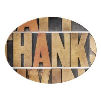 幸せな感謝祭-ヴィンテージ 磁器大皿
