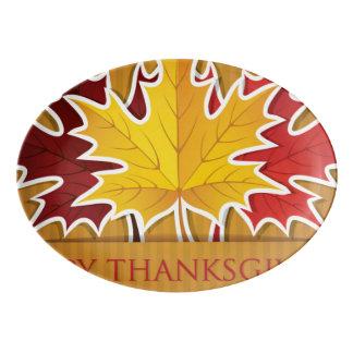 幸せな感謝祭! 磁器大皿
