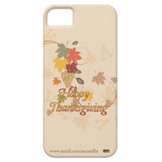 幸せな感謝祭-葉、ブドウおよびリボン iPhone SE/5/5s ケース