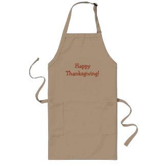 幸せな感謝祭!  長い黄褐色のエプロン ロングエプロン