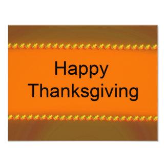 幸せな感謝祭 10.8 X 14 インビテーションカード