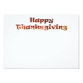 幸せな感謝祭 12.7 X 17.8 インビテーションカード