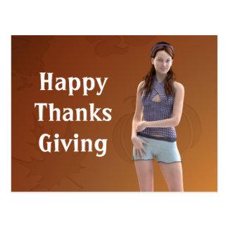 幸せな感謝祭Bree ポストカード