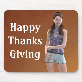 幸せな感謝祭Bree マウスパッド