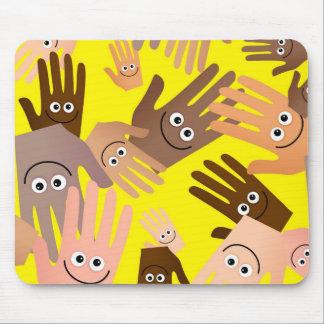 幸せな手の壁紙 マウスパッド