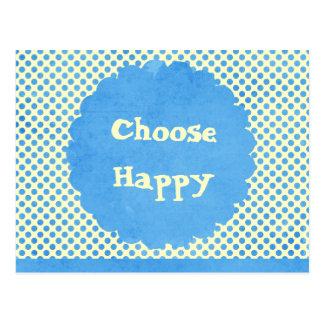 幸せな断言を選んで下さい ポストカード