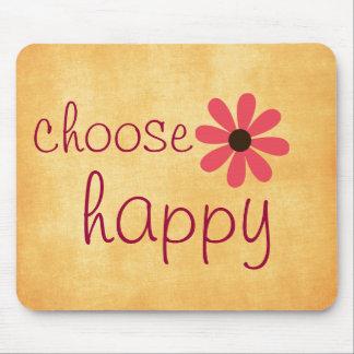 幸せな断言を選んで下さい マウスパッド