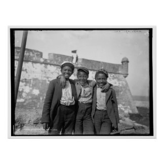 幸せな日のアフリカ系アメリカ人の子供c1902 ポスター