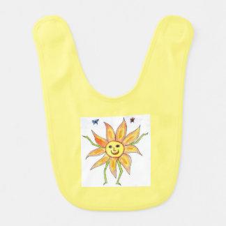 幸せな日光のベビー用ビブ(1つの側面) ベビービブ