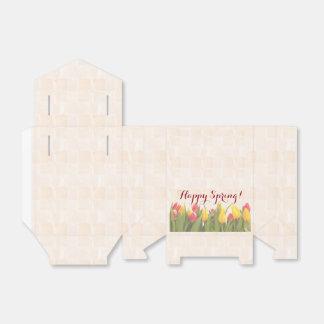 幸せな春のカラフルのチューリップ フェイバーボックス
