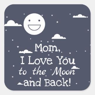 幸せな月I愛月及び背部ステッカーへの スクエアシール
