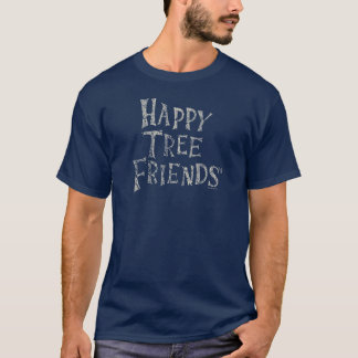 幸せな木の友人のロゴ Tシャツ