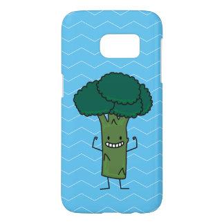 幸せな木の頭部の緑の野菜を曲げるブロッコリー SAMSUNG GALAXY S7 ケース