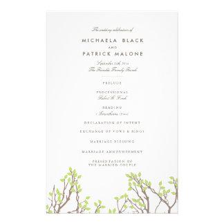 幸せな枝結婚式プログラム チラシ