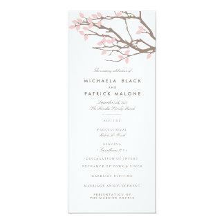 幸せな枝結婚式プログラム 10.2 X 23.5 インビテーションカード
