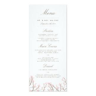 幸せな枝結婚式夕食メニュー 10.2 X 23.5 インビテーションカード