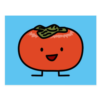 幸せな柿の組の柿の菓子のフルーツ ポストカード