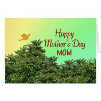 幸せな母の日のお母さん グリーティングカード