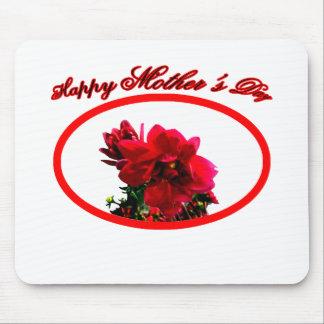 幸せな母の日のツバキbgの白博物館Za マウスパッド
