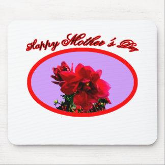 幸せな母の日のツバキbgの紫色博物館Z マウスパッド
