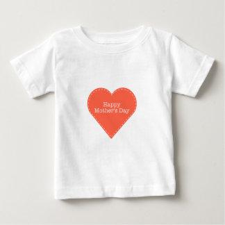 幸せな母の日のハート ベビーTシャツ