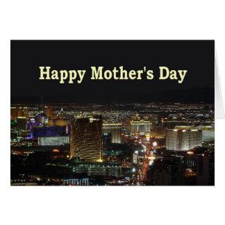 幸せな母の日のラスベガスのストリップカード カード