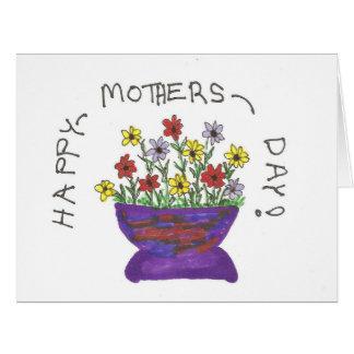 幸せな母の日の挨拶状 カード