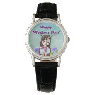 幸せな母の日の現在(カスタマイズ可能な) 腕時計