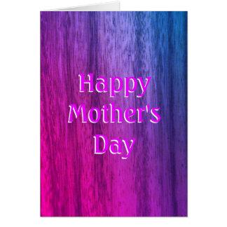 幸せな母の日の着色された素朴なスタイル カード