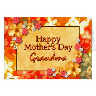 幸せな母の日の祖母 グリーティングカード