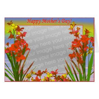 幸せな母の日の花(写真フレーム) カード