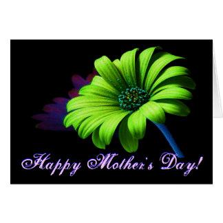 幸せな母の日の若草色のデイジーIV グリーティングカード