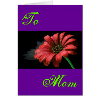 幸せな母の日の赤いデイジーIII グリーティングカード