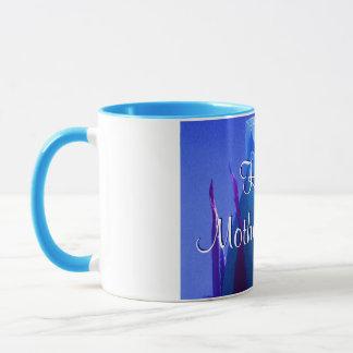 幸せな母の日の青のバラII マグカップ
