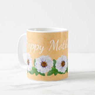 幸せな母の日の《植物》百日草の庭のマグ コーヒーマグカップ