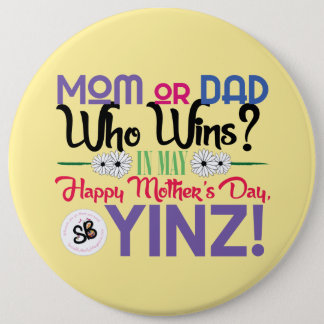 幸せな母の日のYinzメガボタンPin 缶バッジ