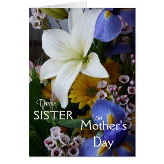 幸せな母の日姉妹かわいらしい花柄 カード