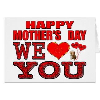 幸せな母の日私達は愛します カード